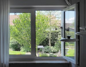 open windows when staging a house